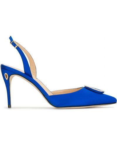 С ремешком синие туфли на каблуке с пряжкой на каблуке Jennifer Chamandi