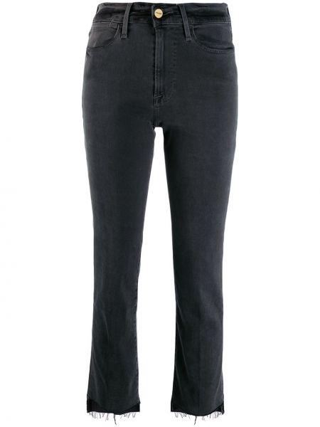 Укороченные джинсы рваные mom Frame