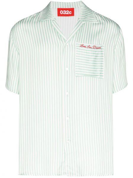 Koszula krótkie z krótkim rękawem z paskami na kręgle 032c
