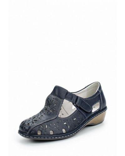 Синие кожаные туфли La Grandezza