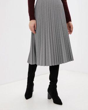 Плиссированная юбка серая Vero Moda