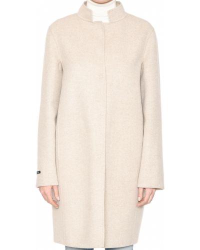Шерстяное пальто с капюшоном Manzoni24