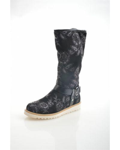 Зимние ботинки черные кожаные Ridlstep