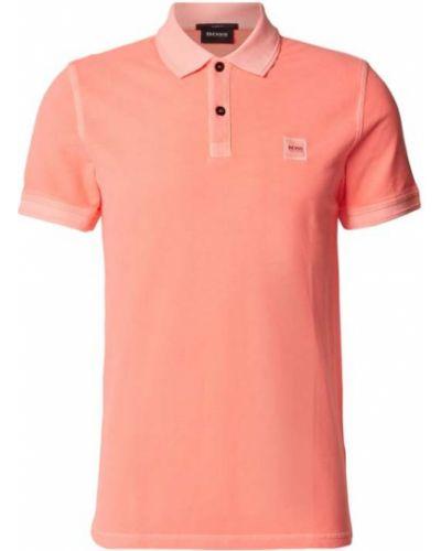 Pomarańczowy t-shirt bawełniany Boss Casualwear