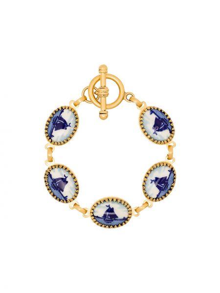 Niebieska złota bransoletka ze złota Brinker & Eliza