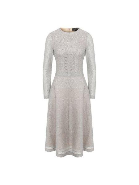 Платье со стразами из крепа St. John