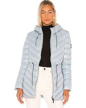 Кожаная куртка с капюшоном нейлоновая Mackage