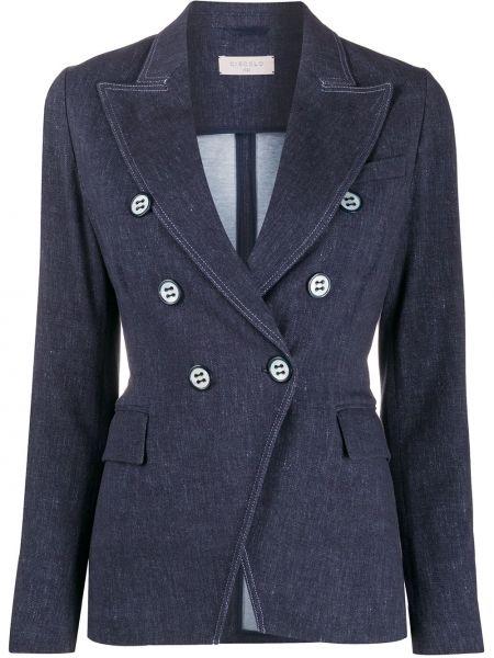 Классический пиджак с накладными карманами двубортный Circolo 1901