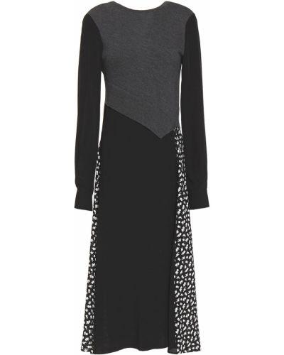 Вязаное черное платье миди на пуговицах Mcq Alexander Mcqueen