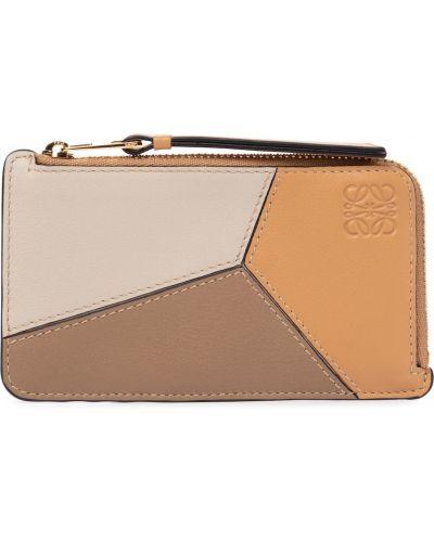 Beżowy skórzany portfel Loewe