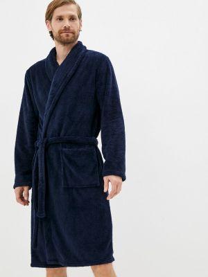 Синий халат осенний Marks & Spencer