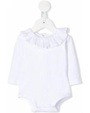 Biały body z długimi rękawami bawełniany Aletta