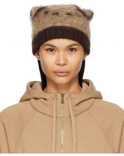 Beżowa czapka wełniana Gucci
