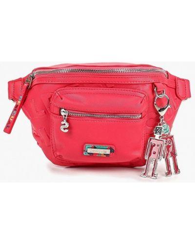 Кожаный сумка поясная розовый Desigual