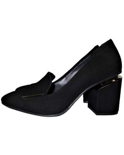 Туфли на каблуке - черные Alvito