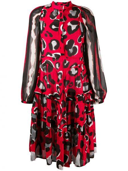 Расклешенное платье макси прозрачное Cavalli Class