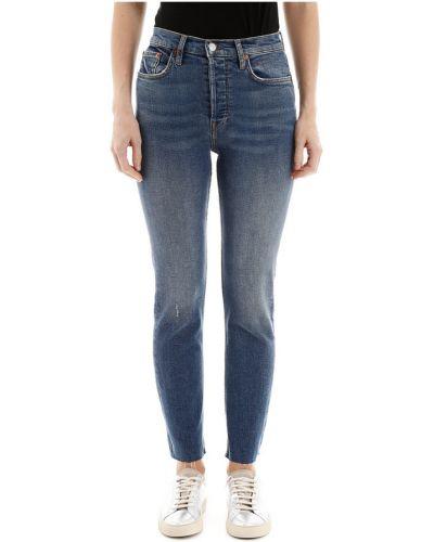 Jeansy zapinane na guziki bawełniane Re/done