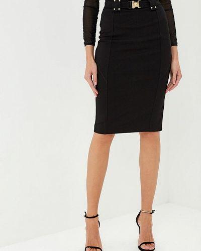 Черная джинсовая юбка Versace Jeans