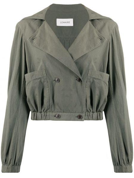 Серый удлиненный пиджак двубортный на пуговицах Lemaire