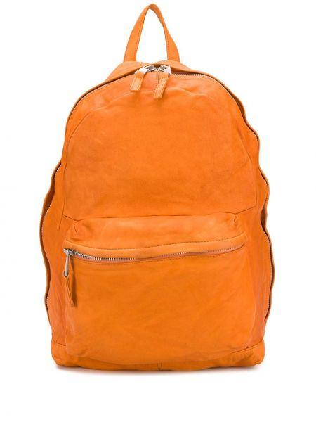 Pomarańczowy plecak skórzany Giorgio Brato