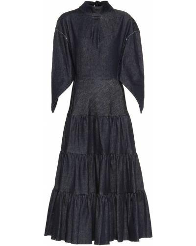 Джинсовое платье макси синее Chloé