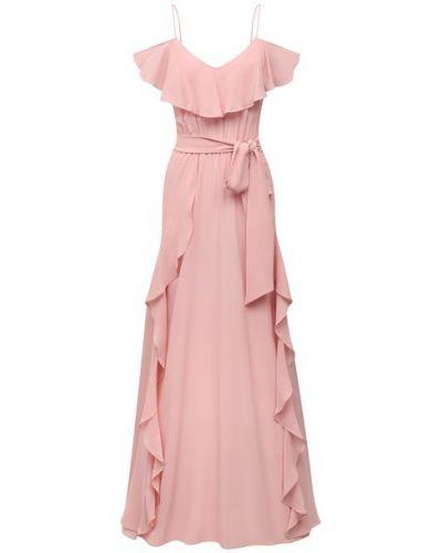 Шелковое розовое платье Lazul
