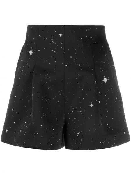 Черные шорты из вискозы со складками Christopher Kane