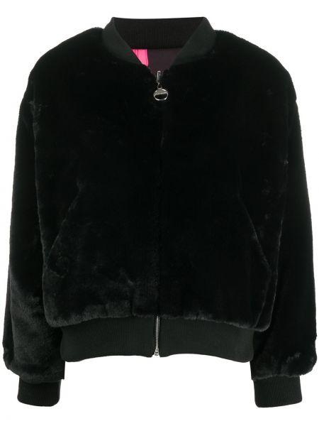 Черная длинная куртка с воротником с декоративной отделкой с длинными рукавами Chiara Ferragni