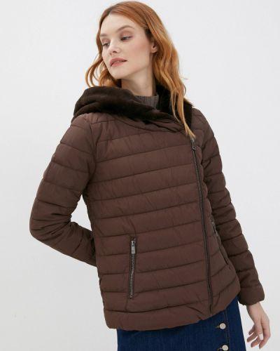 Коричневая утепленная куртка Zolla