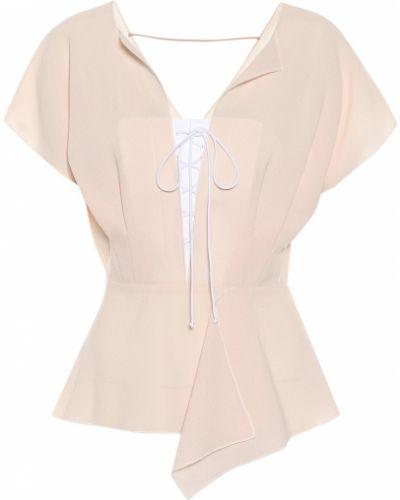 Блузка розовая батник Roland Mouret