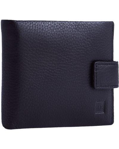 С ремешком черный кожаный кошелек Alfa Ricco