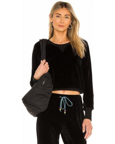 Prążkowana czarna bluza dresowa bawełniana Dannijo