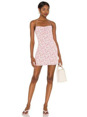 Розовое платье мини с декольте с подкладкой Majorelle