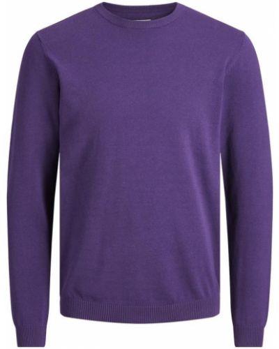 Хлопковый джемпер - фиолетовый Jack & Jones