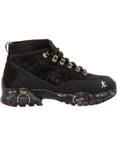 Ботинки на шнуровке кожаные на каблуке Premiata
