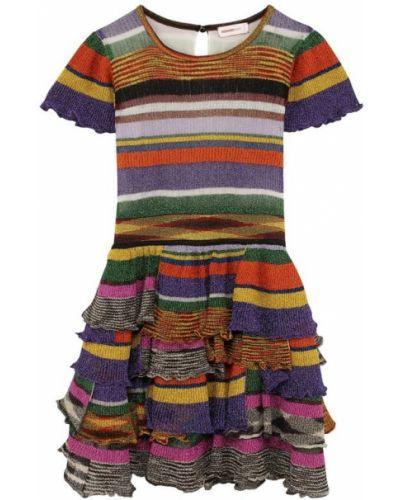 Платье миди трикотажное на пуговицах Missoni