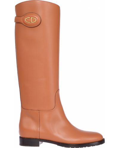 Кожаные сапоги - коричневые Christian Dior