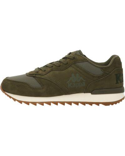 Зеленые кожаные кроссовки на шнуровке Kappa