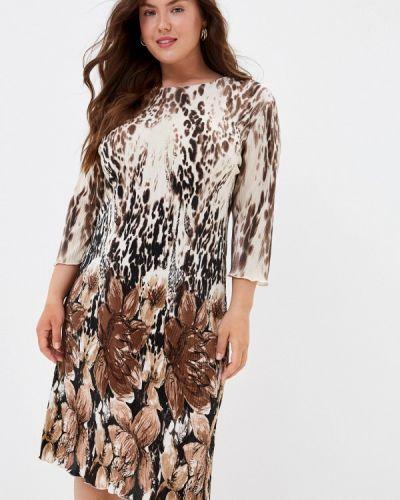 Повседневное коричневое повседневное платье Prewoman