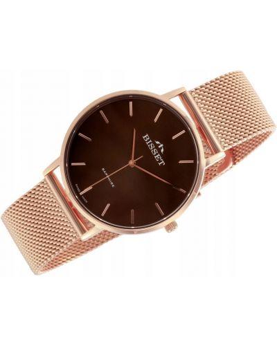 Klasyczny różowy złoty zegarek Bisset