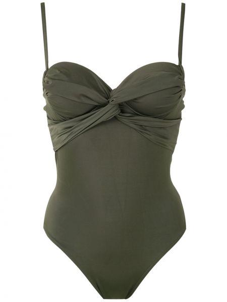 Слитный купальник с открытой спиной - зеленый Brigitte