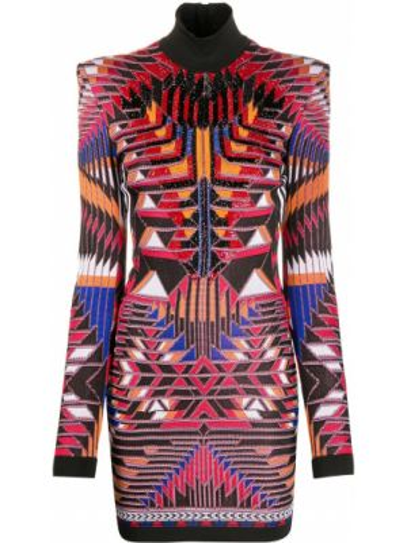 Платье макси с бисером с завышенной талией Balmain
