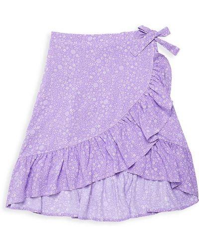 Fioletowa spódnica kaskadowa Design History