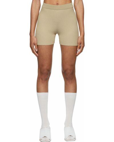 Бежевые шорты короткие Jacquemus