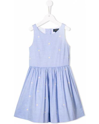 Пышное платье с рукавами на пуговицах Ralph Lauren Kids