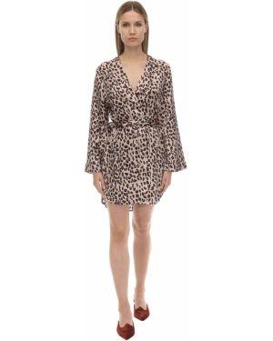 Платье макси с запахом с V-образным вырезом Luna Di Seta