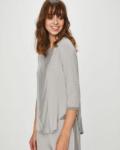 Блузка с вырезом из вискозы Dkny