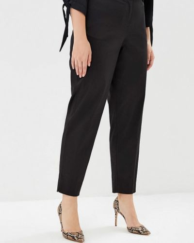Черные брюки с завышенной талией Violeta By Mango