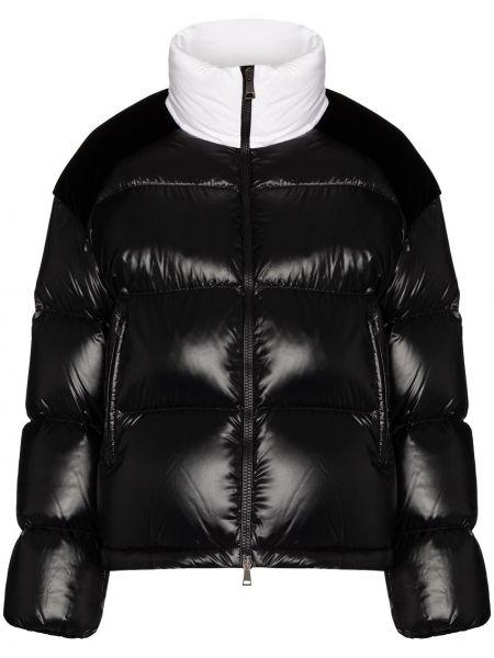 Pikowana bawełna bawełna czarny pikowana kurtka Moncler