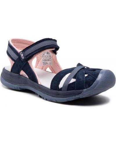 Sandały skórzane - niebieskie Cmp